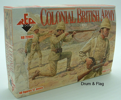 REDBOX 72003. COLONIAL BRITISH INFANTRY. 1/72 SCALE.