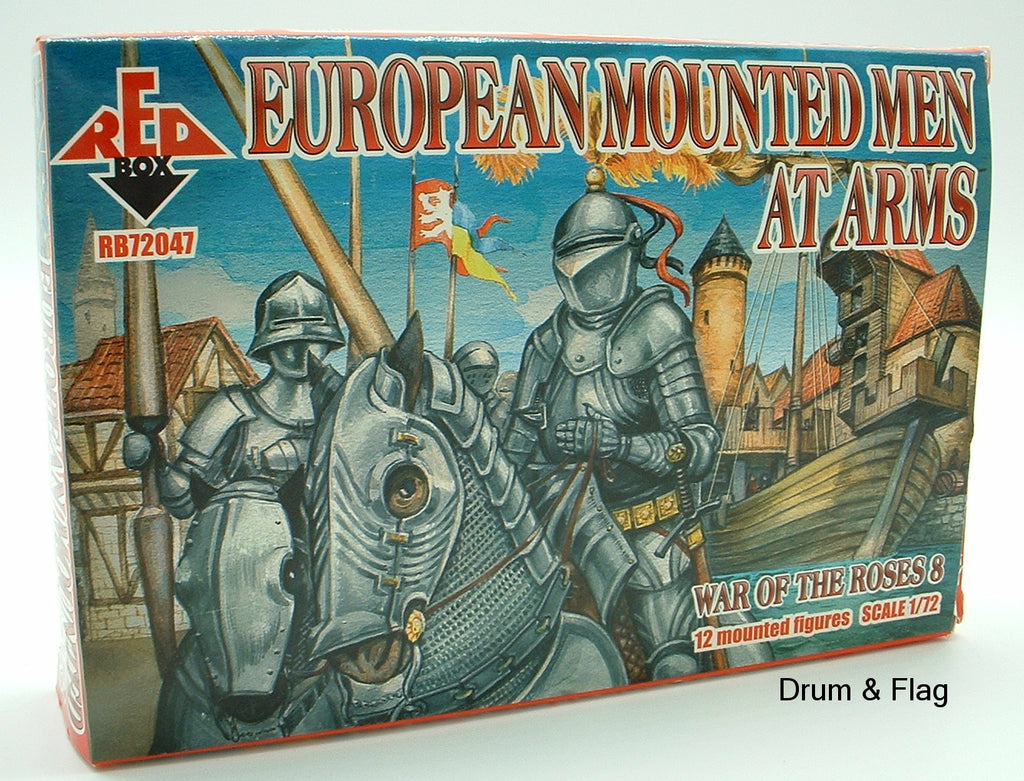 REDBOX 72047 European Mounted Men at Arms WAR OF THE ROSES 1:72 SCALE