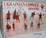 RedBox 72114 Ukrainian Cossack (Infantry) Set #1 - 1/72 scale.