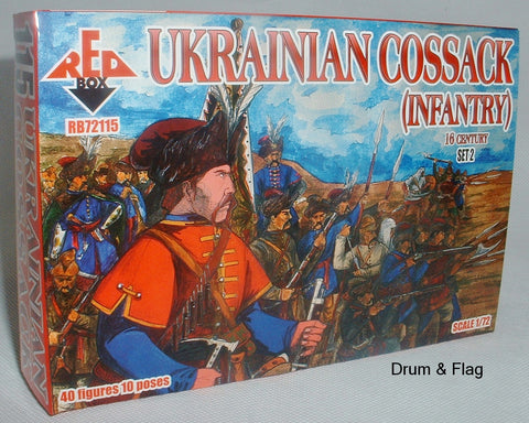 RedBox 72115 Ukrainian Cossack (Infantry) Set #2 - 1/72 scale.