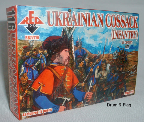 RedBox 72116 Ukrainian Cossack (Infantry) Set #3 - 1/72 scale.