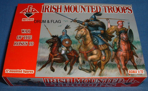 REDBOX SET 72055 - IRISH MOUNTED TROOPS - WAR OF THE ROSES - 1/72 SCALE