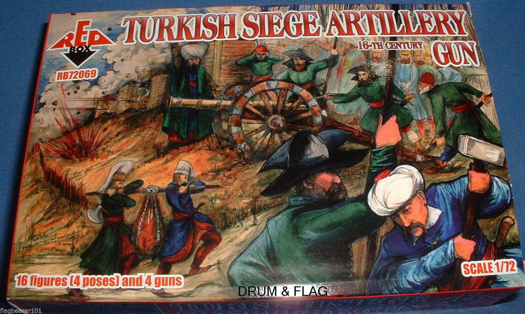 Redbox 72069 Turkish Siege Artillery Gun 1/72 scale