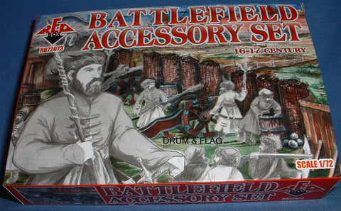 REDBOX 72073 - BATTLEFIELD ACCESSORY SET - 16th-17th Century - 1/72 SCALE