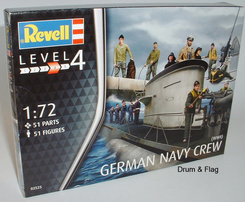 REVELL 02525. WW2 GERMAN NAVY. 1/72 SCALE. 51 FIGURES.