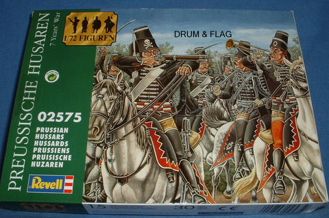 REVELL 02575 PRUSSIAN HUSSARS - SEVEN YEARS WAR. 1/72 SCALE 15 MOUNTED SYW FIGURES