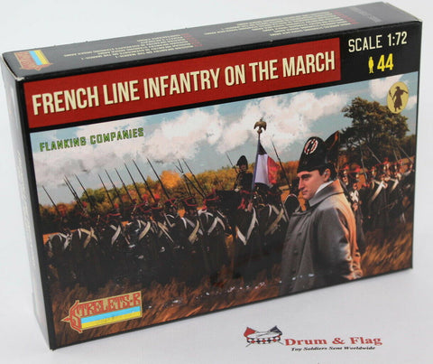 Strelets 173 - Napoleonic French Line Infantry on the March. Set #1. Flanking Companies. 1/72 Scale
