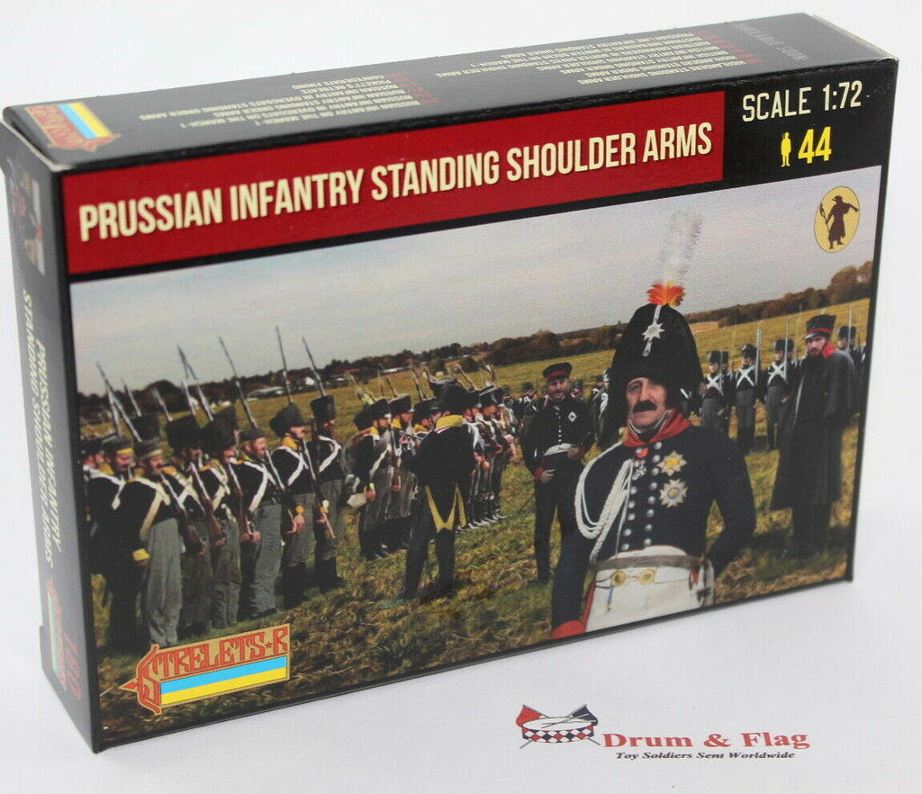Strelets 180 - Napoleonic Prussian Infantry Standing Shoulder Arms. 1/72 Scale