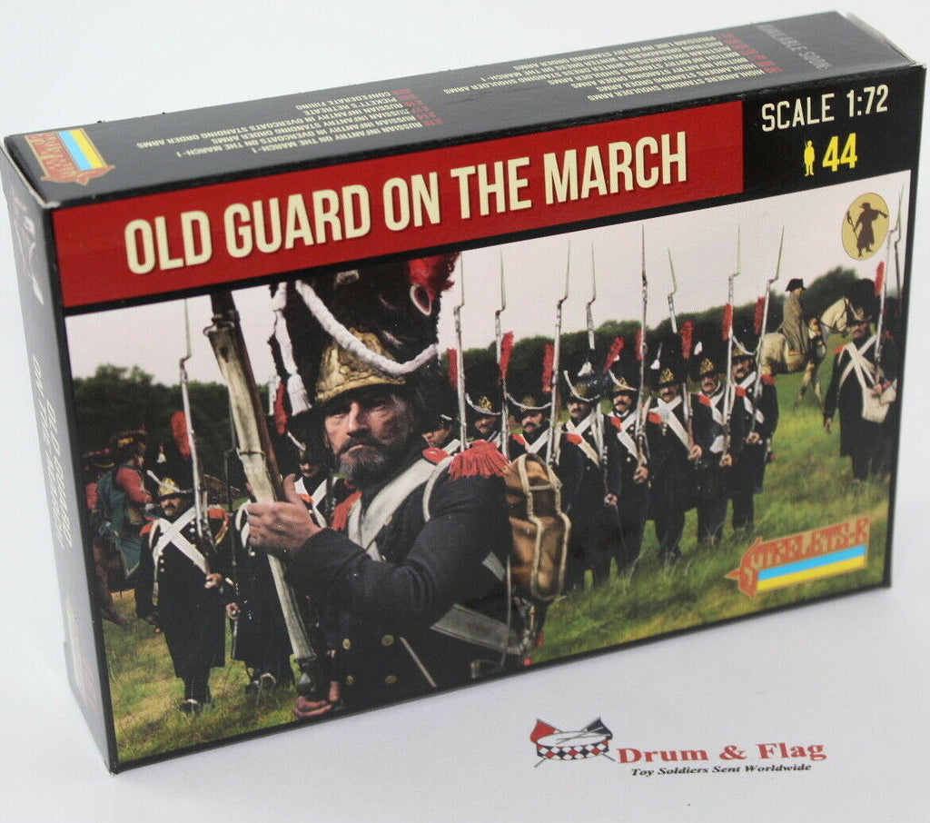 Strelets 181 - Napoleonic French Old Guard on the March. 1/72 Scale Plastic Figures