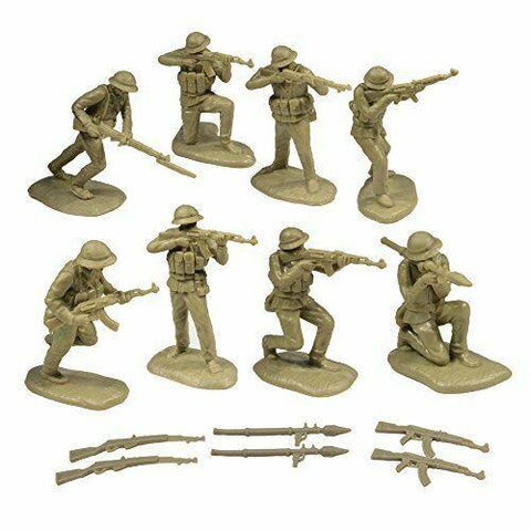 TSSD #30 VIETNAM WAR NVA NORTH VIETNAMESE ARMY SOLDIERS c60mm Unpainted Plastic