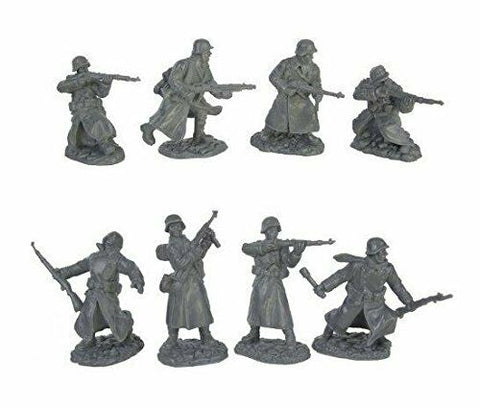 TSSD #4A WWII GERMAN LONG COAT INFANTRY SET. c60mm Unpainted Plastic