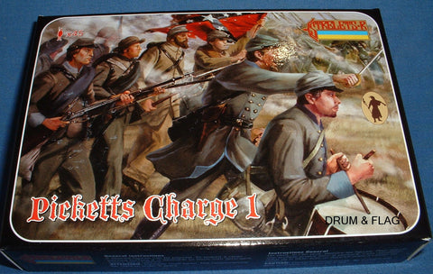 STRELETS Set 148 - PICKETT'S CHARGE - CONFEDERATE INFANTRY - ACW - 1/72 SCALE.
