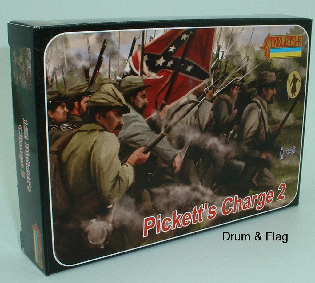 Strelets Set 152 - Pickett's Charge 2. Gettysburg - Confederate Infantry - American Civil War. 1/72 scale