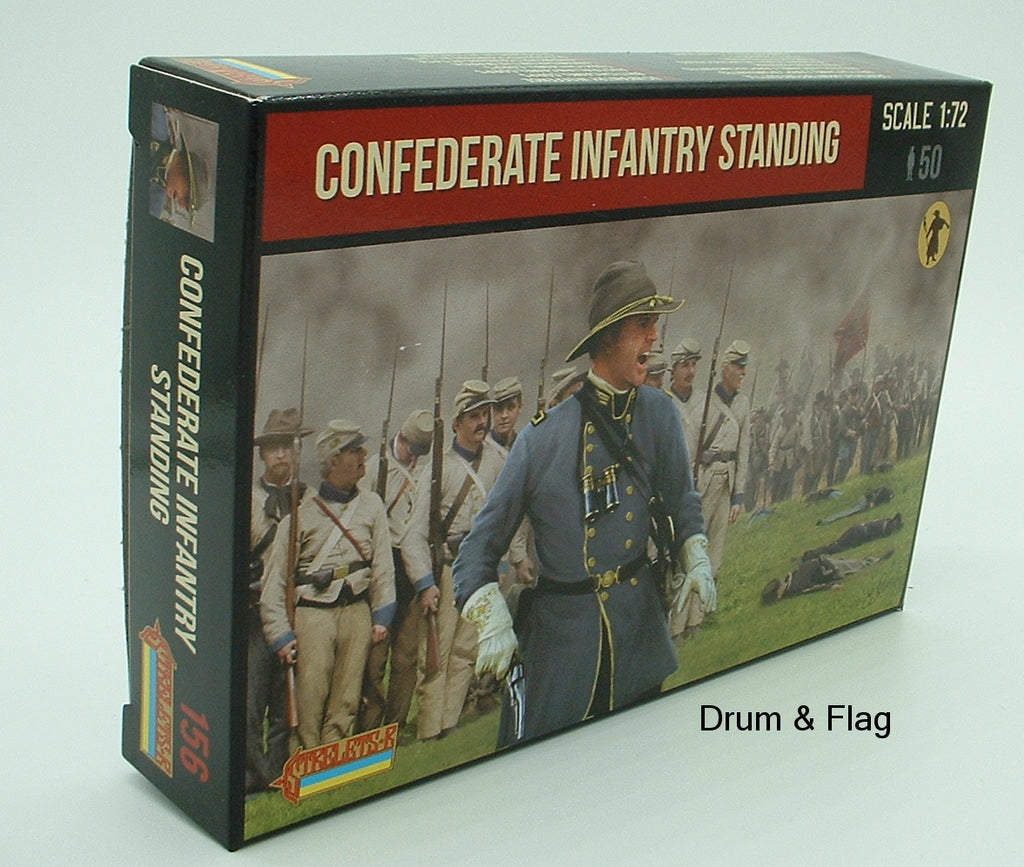 Strelets Set 156 - Confederate Infantry Standing - American Civil War - 1/72 SCALE.