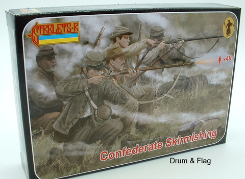 Strelets Set 158 - Confederates Skirmishing - American Civil War. 1/72 scale