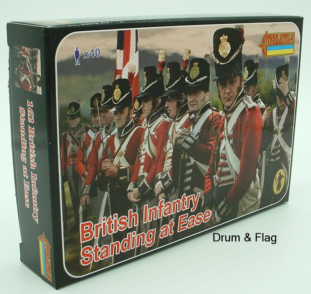 Strelets Set 162 - British Infantry Standing at Ease. Napoleonic Wars. 1/72 scale