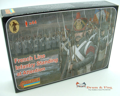 Strelets Set 184 - French Line Infantry Standing at Attention - Napoleonic Wars. 1/72 scale