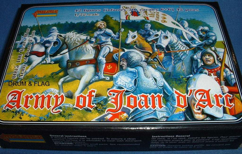 STRELETS SET #5. ARMY OF JOAN OF ARC. 1/72 SCALE