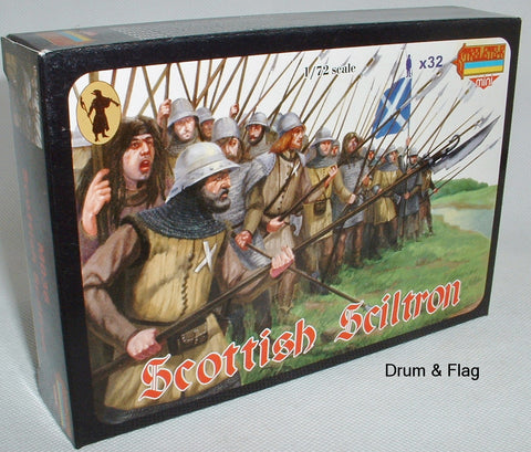 STRELETS M 36 SCOTTISH SCHILTRON X 32 FIGS. 1/72 SCALE SCOTS. M036