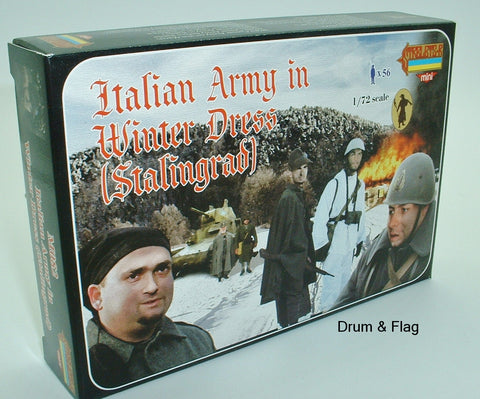 STRELETS M 82 WW2 ITALIAN ARMY IN WINTER DRESS (STALINGRAD) 1/72 SCALE ITALIANS