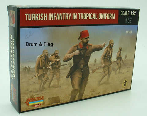 Strelets Set M 122 Turkish Infantry in Tropical Uniform WWI 1/72 Scale WW1 Turks