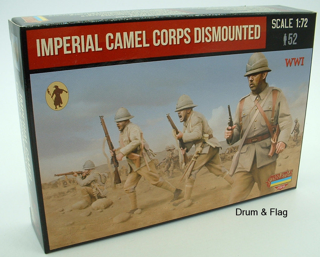 Strelets Set M 123 - Imperial British Dismounted Camel Corps - WW1. 1/72 scale