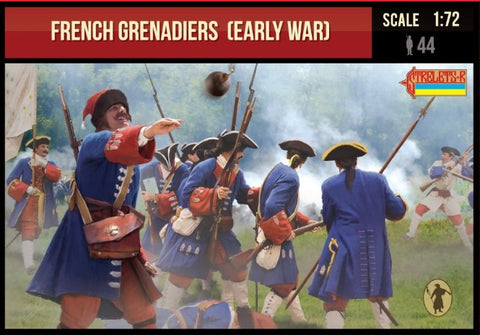 Strelets #235 - French Grenadiers. Early War. War of Spanish Succession. 1/72 Scale