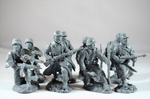 TSSD #27 WWII GERMAN INFANTRY ADD ON SET . c60mm Unpainted Plastic