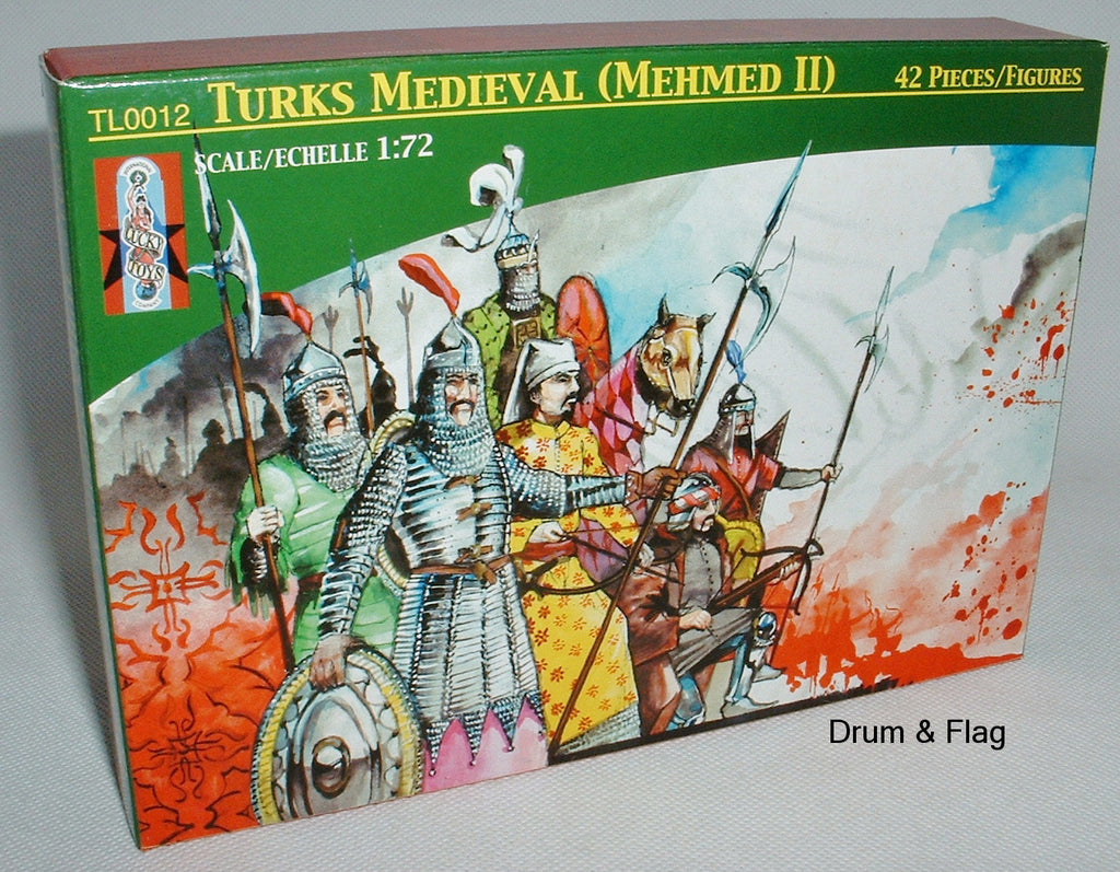 LUCKY TOYS - MEDIEVAL TURKS TURKISH (MEHMED II)- 42 PLASTIC PIECES - 1/72 SCALE.