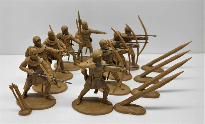 Expeditionary Force 60NMQ02 - Bowmen of England (14th Century) - 60mm Plastic. English Archers