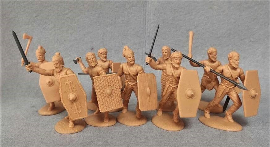 Expeditionary Force 60 GMS 01. Early Germans. Foot Warriors. Germanic Symmachiarii - 60mm Plastic.
