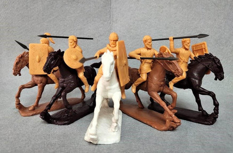 Expeditionary Force 60 GMS 02 Early Germans. Cavalry. Germanic Symmachiarii - 60mm Plastic. FUTURE RELEASE