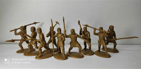 Expeditionary Force 60NMQ01 - Armed Medieval Peasants (14th Century) - 60mm Plastic.