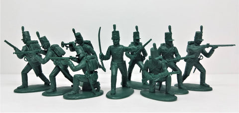 Expeditionary Force 54BRT11 - Napoleonic British 95th Rifles - 54mm Plastic.
