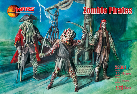 Mars 32021. Zombie Pirates. Plastic 1/32 scale.