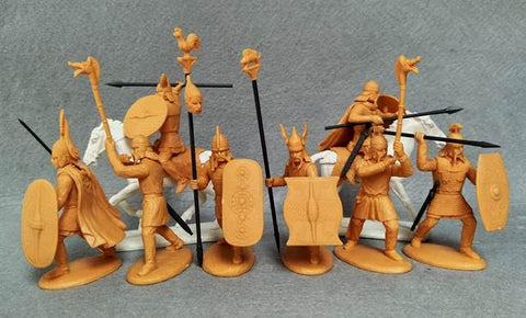 Expeditionary Force 60CTB06  Celtic Barbarian Command - Gauls - Britons - 60mm 1/32 Scale