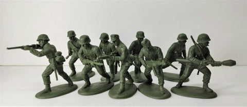 Expeditionary Force 60LWG01 - Late War German Infantry – Rifles Assault Section (1944-1945) - 60mm Plastic