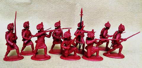 Expeditionary Force 54BRT02-C Highland Infantry Centre Company - Napoleonic British - 54mm 1/32 Scale