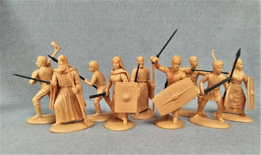 Expeditionary Force 60 CTB 05. Celtic Armed Civilians (Women, Children, Slaves, Druid etc) - 60mm