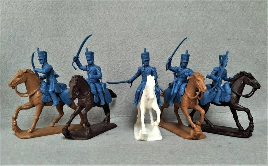 Expeditionary Force Napoleonic British Light Dragoons (1812-15) - 54 BRT 10 - 54mm Plastic.