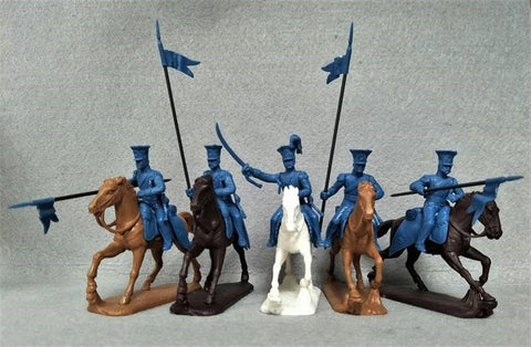 Expeditionary Force Napoleonic Polish Lancers - 54 FRN 12 - 54mm Plastic.