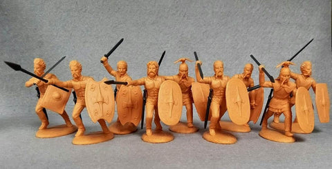 Expeditionary Force 60 CTB 04. Celtic Warband Infantry at the Charge! - 60mm