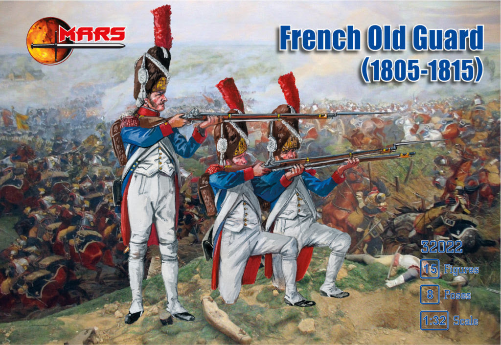 Mars 32022 - French Old Guard (1805-1815). Napoleonic Era. Plastic 1/32 Scale Figures.