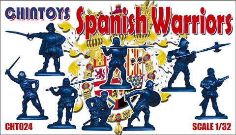 CHINTOYS cht024 Spanish Warriors. 16th Century - 1/32 SCALE