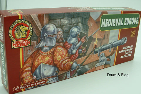 ULTIMA RATIO Set 7210 Medieval Europe - Gunpowder Castle Artillery 1/72 Scale