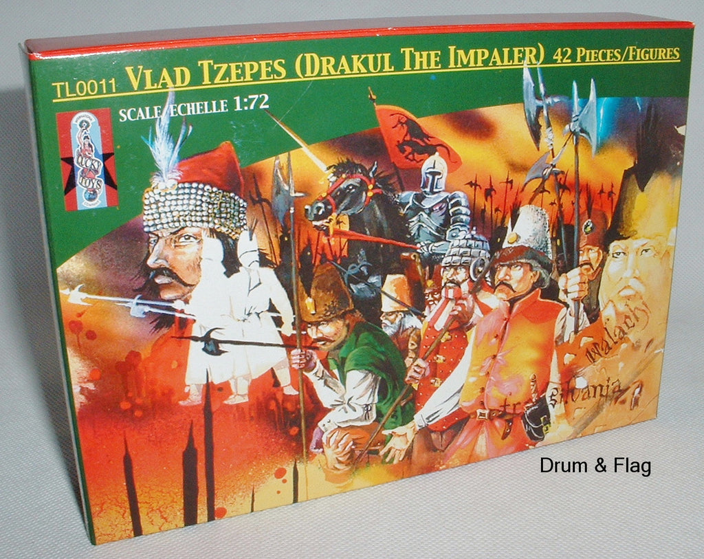 LUCKY TOYS - VLAD TZEPES - VLAD THE IMPALER - 42 PLASTIC PIECES - 1/72 SCALE