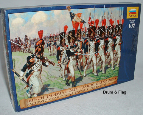 ZVEZDA 8030 FRENCH IMPERIAL OLD GUARD GRENADIERS. 1:72 SCALE UNPAINTED FIGS X 40