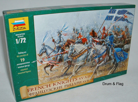 ZVEZDA 8036: FRENCH KNIGHTS - 100 YEAR WAR. 1/72 Scale Medieval Era HYW