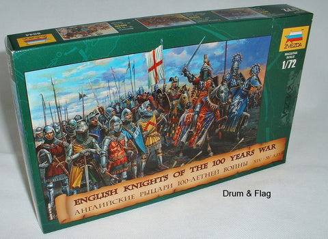ZVEZDA 8044: ENGLISH KNIGHTS - 100 YEAR WAR. 1/72 Scale Medieval Era HYW