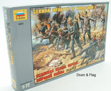 ZVEZDA 8083 WW1 GERMAN INFANTRY. 1/72 Scale. 41 FIGURES. WWI GERMANS PICKELHAUBE
